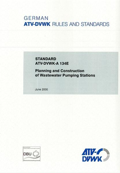 Standard ATV-DVWK-A 134E Planning and Construction of Wastewater Pumping Stations - Coverbild