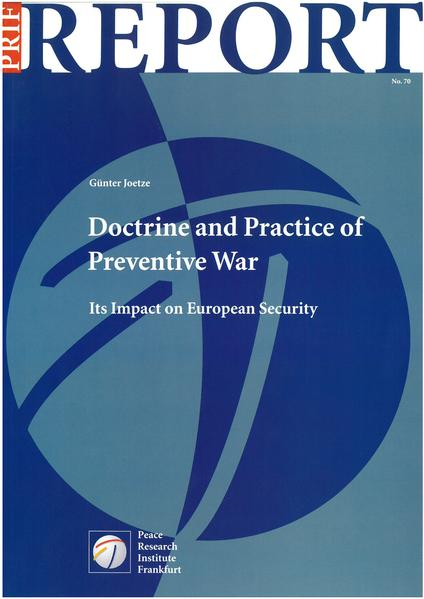 Doctrine and Practice of Preventive War - Coverbild