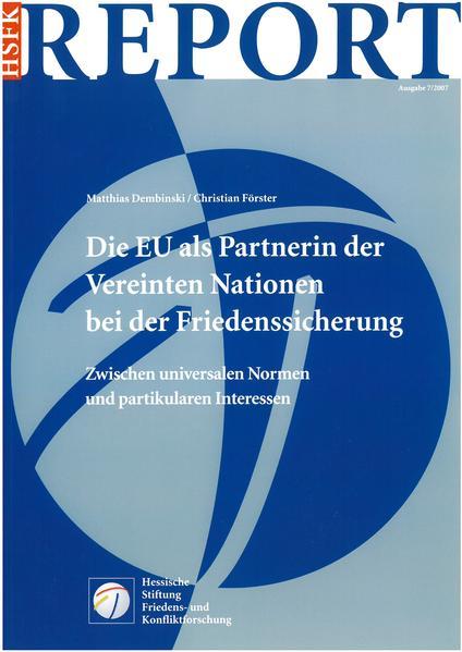 Die EU als Partnerin der Vereinten Nationen bei der Friedenssicherung - Coverbild