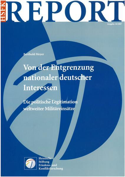 Von der Entgrenzung nationaler deutscher Interessen - Coverbild