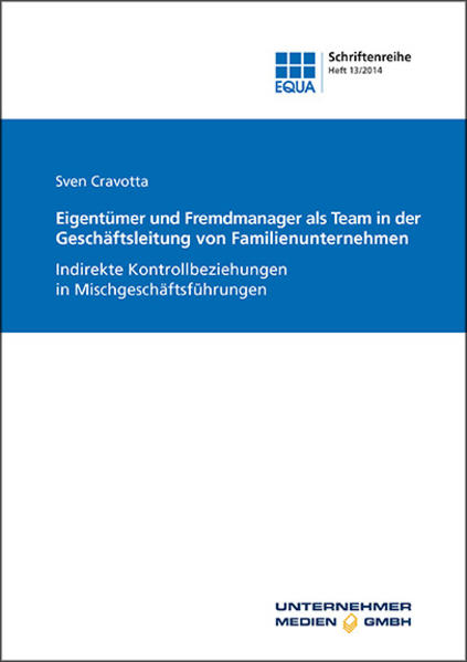 Eigentümer und Fremdmanager als Team in der Geschäftsleitung von Familienunternehmen - Coverbild