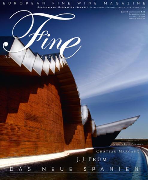 FINE Das Weinmagazin 02/2008 - Coverbild