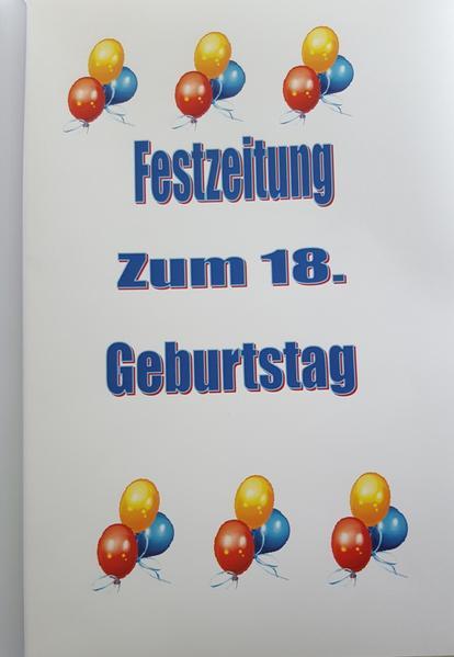 Festzeitung zum 18. Geburtstag - Coverbild