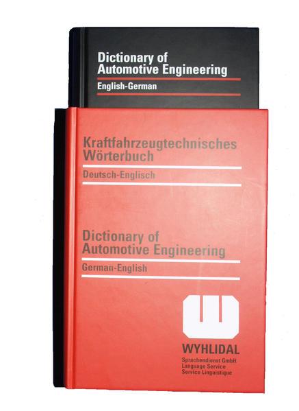 Kraftfahrzeugtechnisches Wörterbuch WYHLIDAL / WYHLIDAL Dictionary of Automotive Engineering - Coverbild