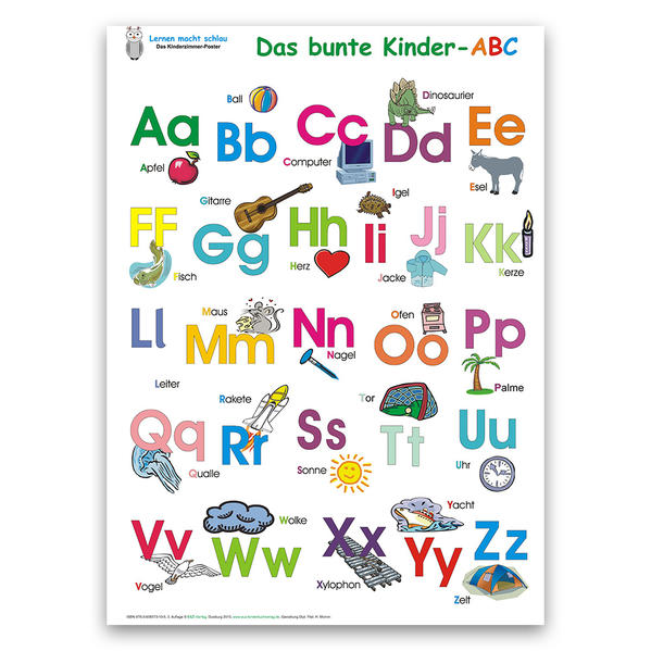 Das bunte Kinder-ABC. Poster - Coverbild