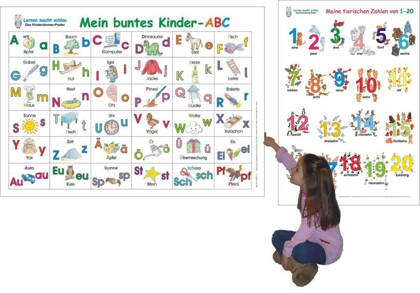 Mein buntes Kinder-ABC + Meine tierischen Zahlen von 1-20 - Coverbild