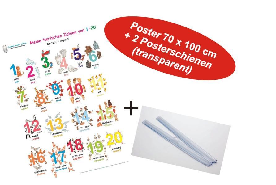 Meine tierischen Zahlen von 1-20 deutsch/Englisch + Posterschienen - Coverbild