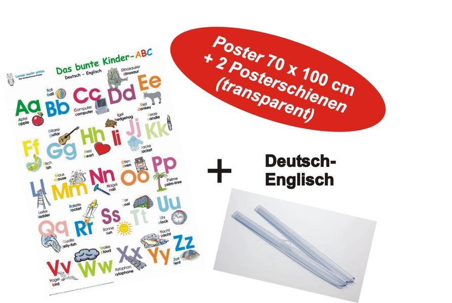 Das bunte Kinder-ABC Deutsch/Englisch + Posterschienen - Coverbild
