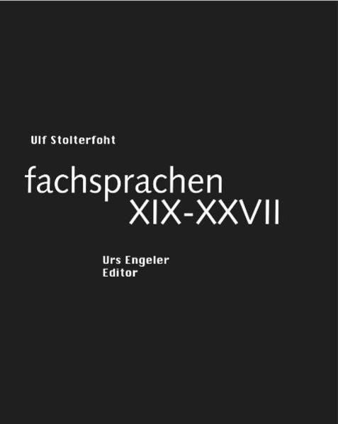 fachsprachen XIX-XXVII - Coverbild