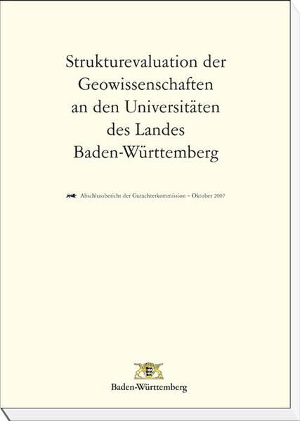 Strukturevaluation der Geowissenschaften an den Universitäten des Landes Baden-Württemberg - Coverbild