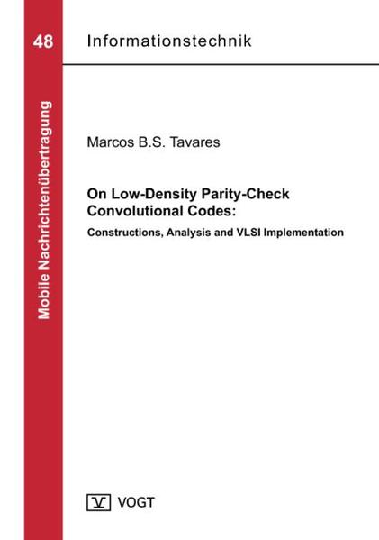 On Low-Density Parity-Check Convolutional Codes: Constructions, Analysis and VLSI Implementation - Coverbild