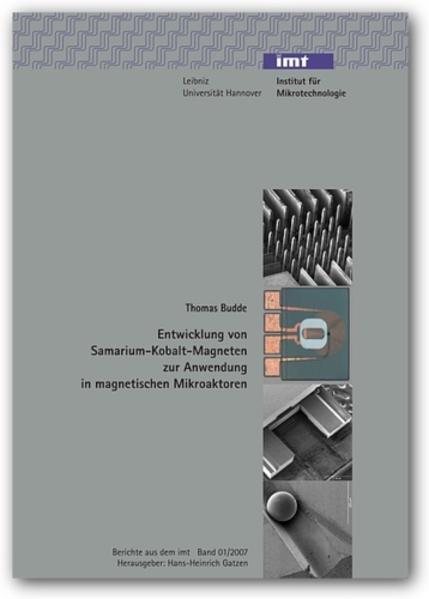 Entwicklung von Samarium-Kobalt-Magneten zur Anwendung in magnetischen Mikroaktoren - Coverbild