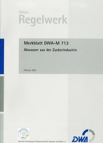 Merkblatt DWA-M 713 Abwasser aus der Zuckerindustrie - Coverbild