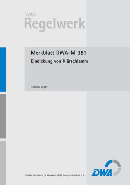 Merkblatt DWA-M 381 Eindickung von Klärschlamm - Coverbild