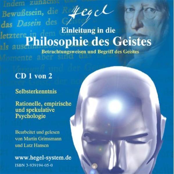 Einleitung in die Philosophie des Geistes von G.W.F.Hegel (Hörbuch, 2 Audio-CDs) - Coverbild