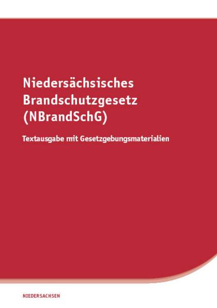 Niedersächsisches Brandschutzgesetz (NBrandSchG) - Coverbild