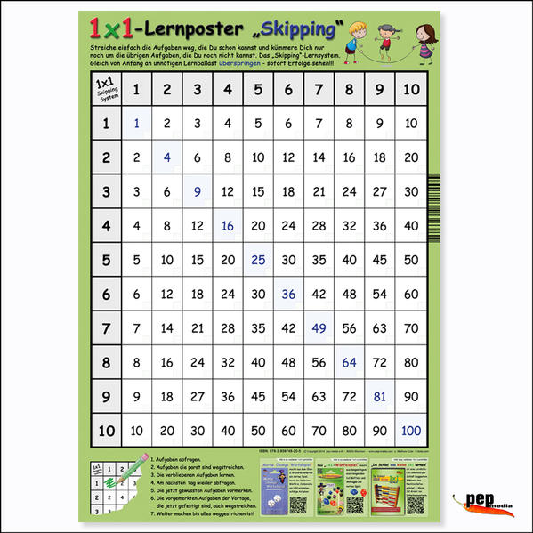 "1x1-Lernposter ""Skipping"" - Coverbild"