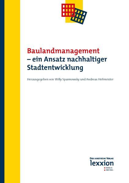 Baulandmanagement - ein Ansatz nachhaltiger Stadtentwicklung - Coverbild