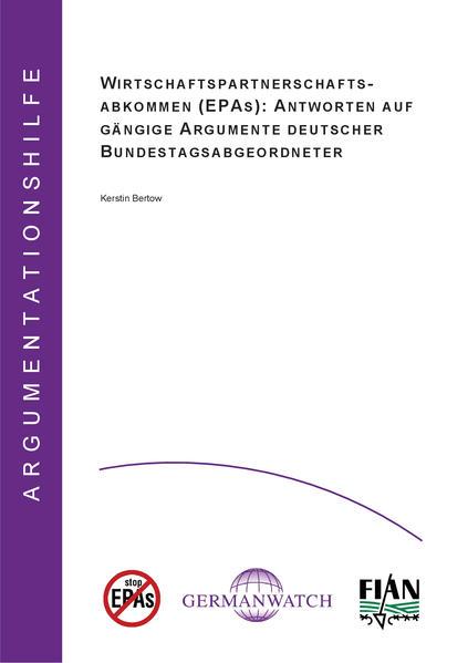 Wirtschaftspartnerschaftsabkommen (EPAs): Antworten auf gängige Argumente deutscher Bundestagsabgeordneter - Coverbild