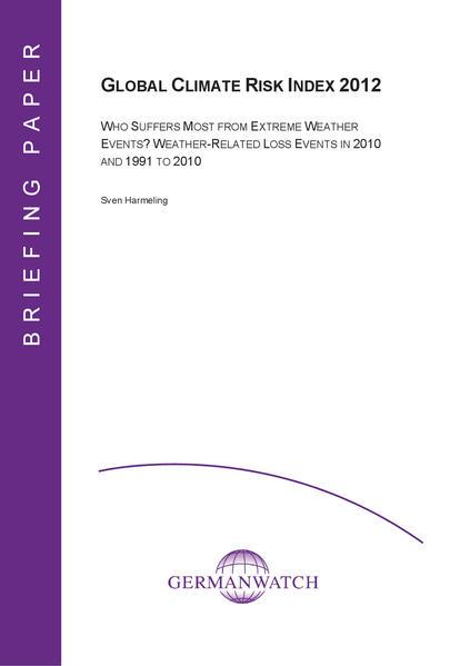 Global Climate Risk Index 2012 - Coverbild
