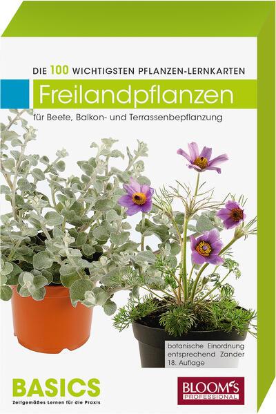 Pflanzen-Lernkarten: Die 100 wichtigsten Freilandpflanzen - Coverbild