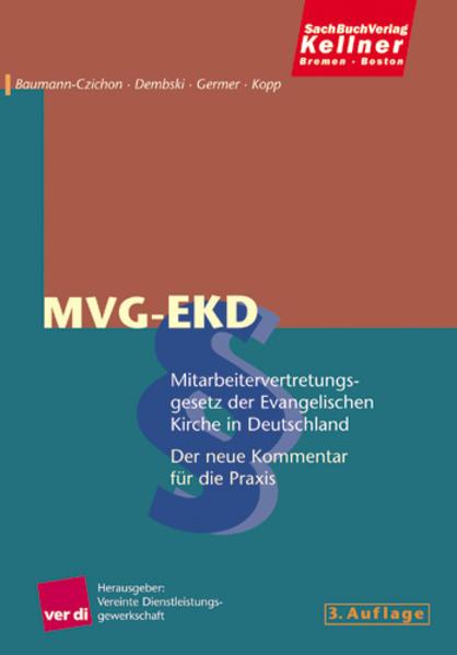 Mitarbeitervertretungsgesetz der Evangelischen Kirche in Deutschland, MVG-EKD - Coverbild