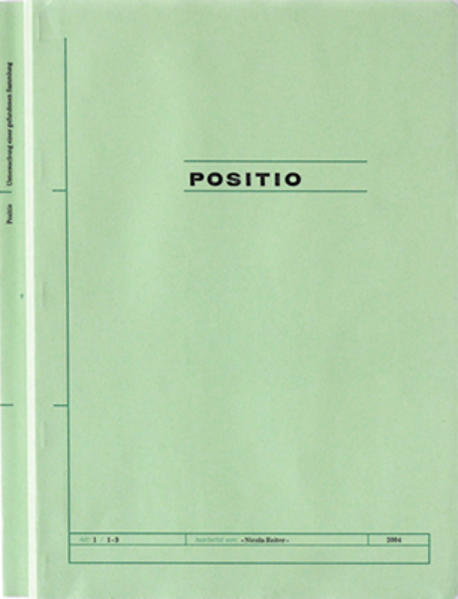 Positio - Coverbild