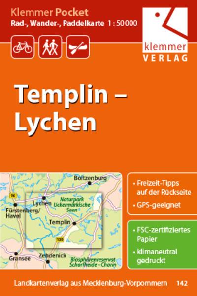 Klemmer Pocket Rad-, Wander- und Paddelkarte Templin - Lychen - Coverbild