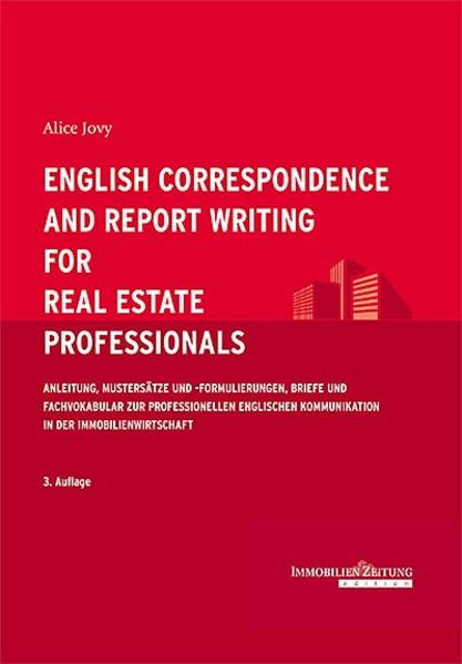 English Correspondence and Report Writing for Real Estate Professionals - Coverbild