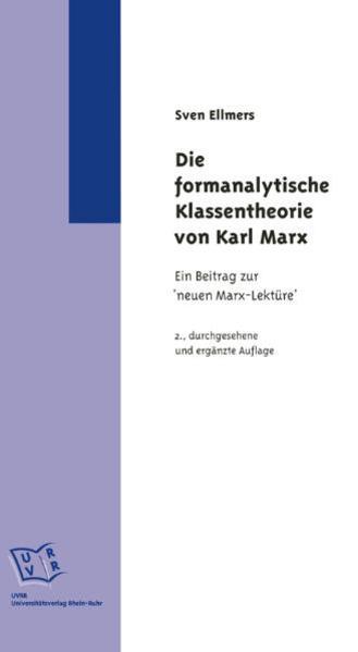 Die formanalytische Klassentheorie von Karl Marx. - Coverbild
