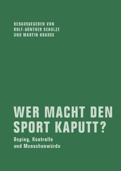Wer macht den Sport kaputt? - Coverbild