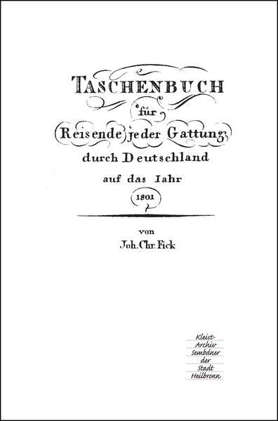 Taschenbuch für Reisende jeder Gattung durch Deutschland auf das Jahr 1801 - Coverbild