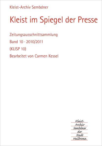Kleist im Spiegel der Presse 2010-2011 - Coverbild