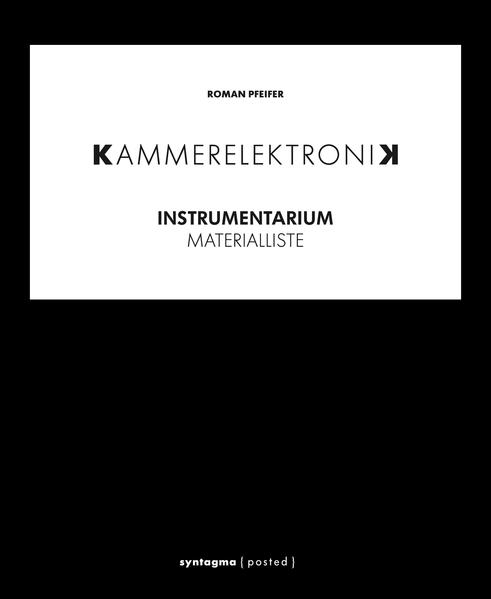 KAMMERELEKTRONIK. Instrumentarium - Coverbild