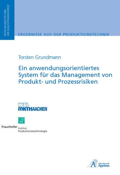 Ein anwendungsorientiertes System für das Management von Produkt- und Prozessrisiken - Coverbild