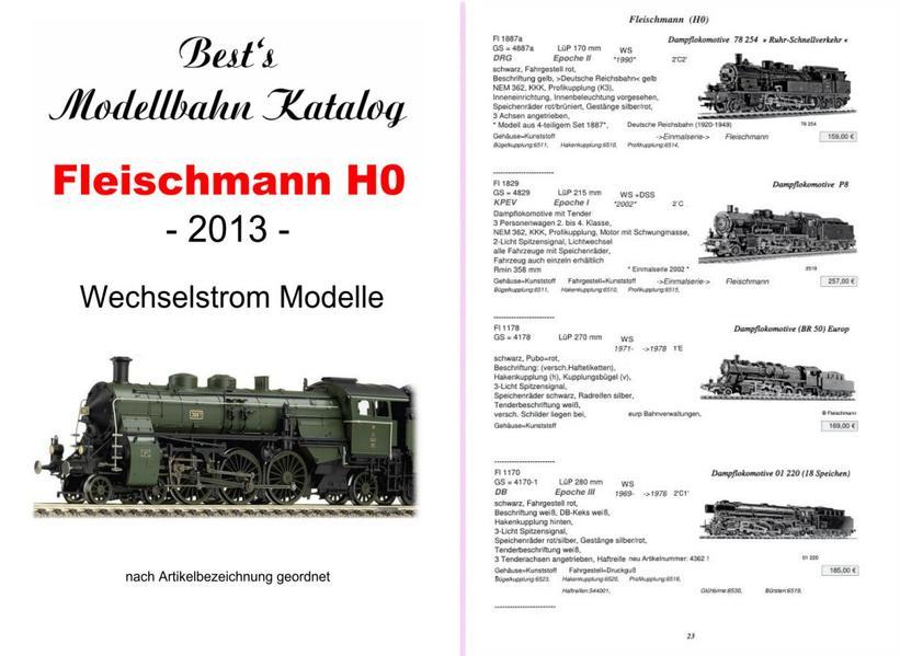 Best`s Modellbahn Katalog Fleischmann H0 Wechsestrom Modelle WS (AC)  2014 - Coverbild