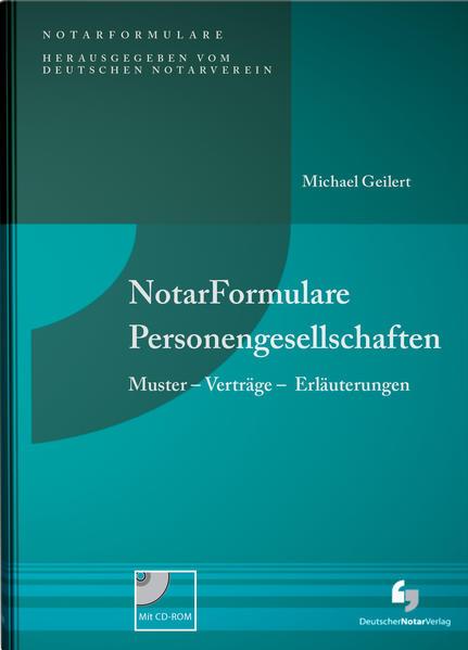 NotarFormulare Personengesellschaften - Coverbild