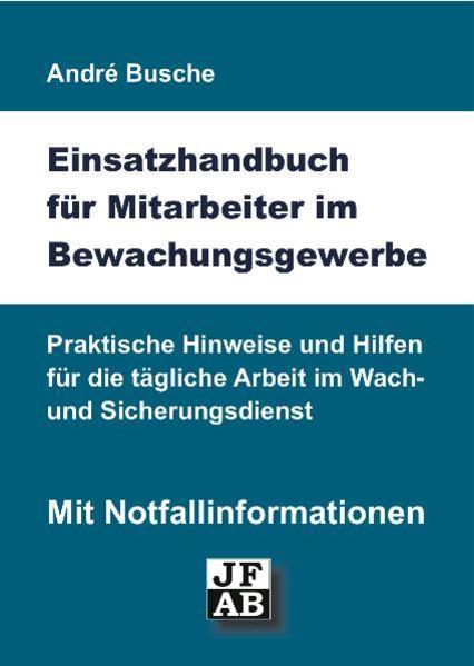 Einsatzhandbuch Bewachungsgewerbe - Coverbild