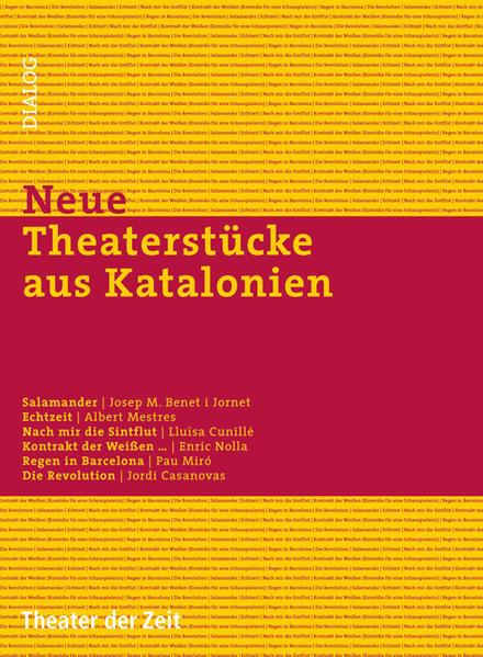 Neue Theaterstücke aus Katalonien - Coverbild