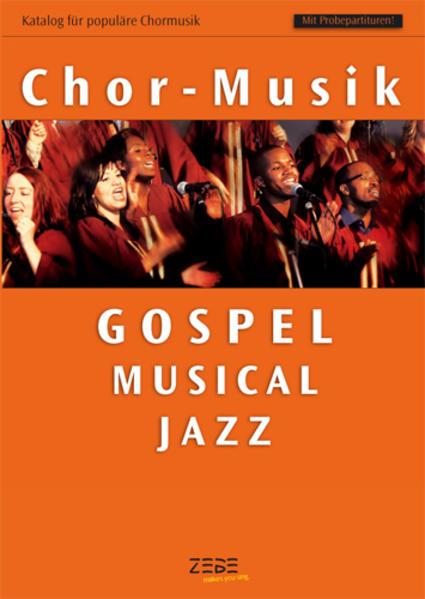 Katalog für populäre Chormusik - Coverbild
