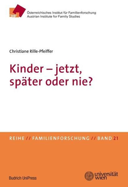 Kinder – jetzt, später oder nie? - Coverbild