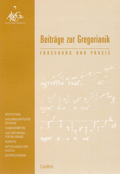 Beiträge zur Gregorianik - Coverbild