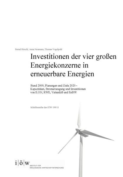 Investitionen der vier großen Energiekonzerne in erneuerbare Energien - Coverbild