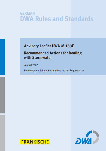 Advisory Leaflet DWA-M 153E Recommended Actions for Dealing with Stormwater - Coverbild