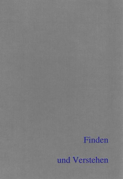 Finden und Verstehen - Coverbild