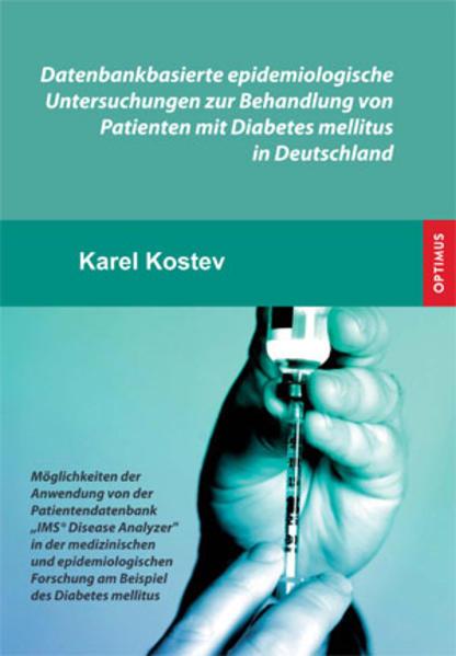 Datenbankbasierte epidemiologische Untersuchungen zur Behandlung von Patienten mit Diabetes mellitus in Deutschland - Coverbild
