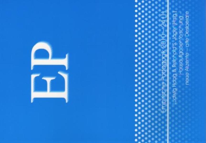 Hausaufgabenforschung- neue Akzente- alte Desiderate - Coverbild