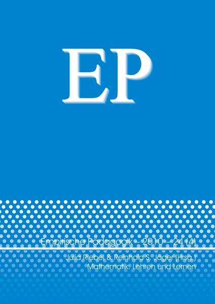 Mathematik: Lehren und Lernen - Coverbild