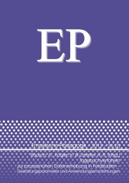 Tagebuchverfahren zur prozessnahen Datenerhebung in Feldstudien – Gestaltungsparameter und Anwendungsempfehlungen - Coverbild