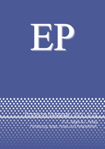 Förderung: Basis, Praxis und Perspektiven - Coverbild